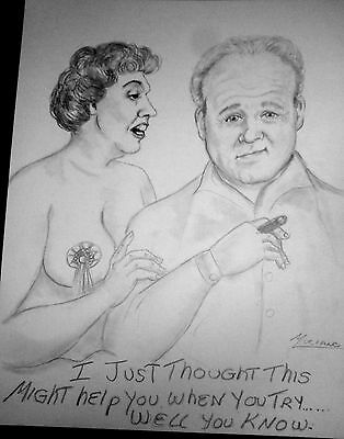 Luciano Original Pencil Comic Art All in The Family Edith Tries to Help Archie
