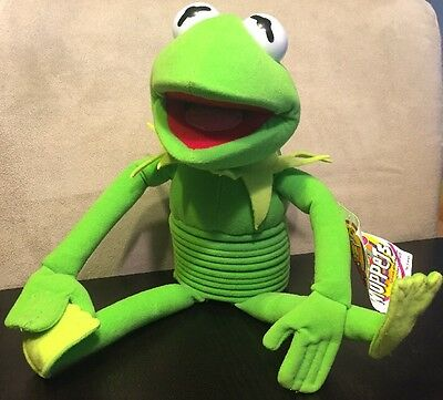 """Kermit The Frog 16"""" Slinky Pet Jim Henson's The Muppets Doll"""