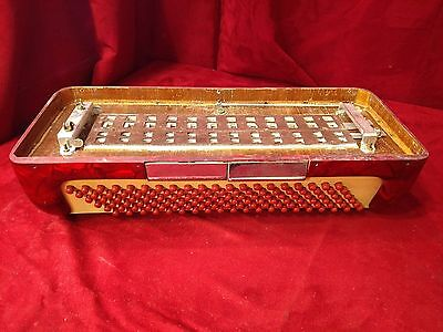 Red Milanti Accordion Repair Part - Bass Section 120 Buttons
