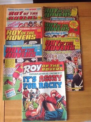 Bundle Of 7 Roy Of The Rovers Comics 1980s