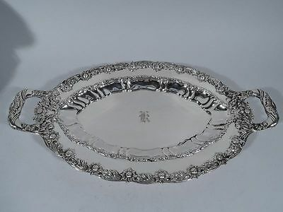 Tiffany Chrysanthemum Tray - 5931 - Antique Platter - American Sterling Silver