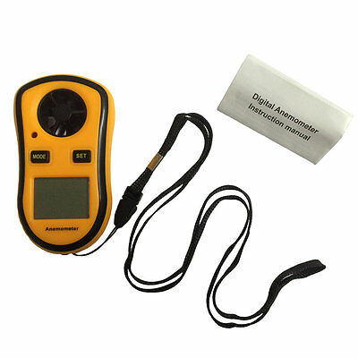 Digital LCD Wind Speed Measurement Gauge Meter Anemometer NTC Thermometer VE