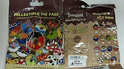 Disney Pins Mystery CHARACTER DONUTS Authentic 5-pin 2014 Hard to Find