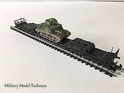 N Gauge Military Fleischmann Well Wagon British General Grant Tank Metal (MMR107
