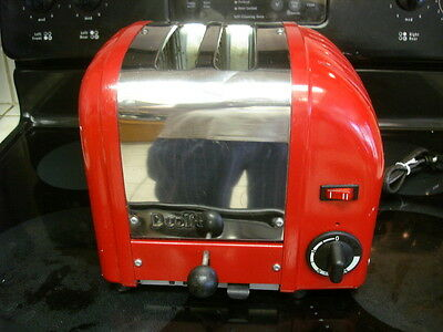 Made In England Dualit Red 2 Slice Toaster Model A2Br/10