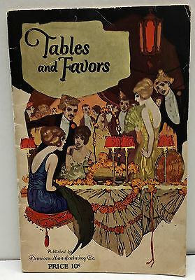 "Original Vintage ""Tables and Favors"" Booklet by Dennison Manufacturing Co. 1922"
