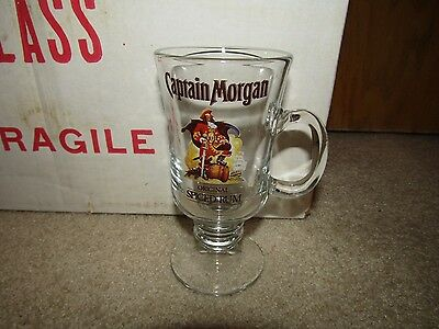 CAPTAIN MORGAN SPICE RUM stemmed GLASSES SET OF 4 IN BOX