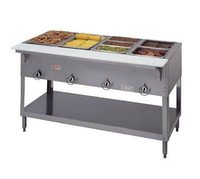 New Duke E304SW Aerohot Steam Table w/ 4-Sealed Wells & Carving Board