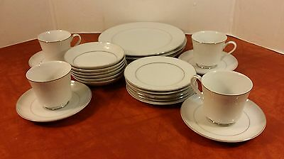 22 Piece Lot Crown Victoria Fine China Lovelace Luncheon Salad Plates Bowls cups