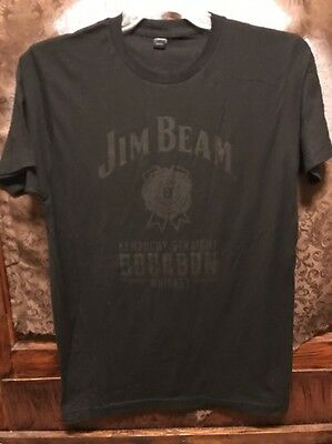 JIM BEAM Kentucky BOURBON WHISKEY ~ Men's MED ~ NEW ~ Black 100% Cotton T Shirt