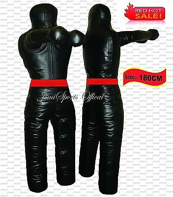 Boxing Grappling Dummy Training Dummies Punching Bags BJJ MMA Fight (Red-180cm)