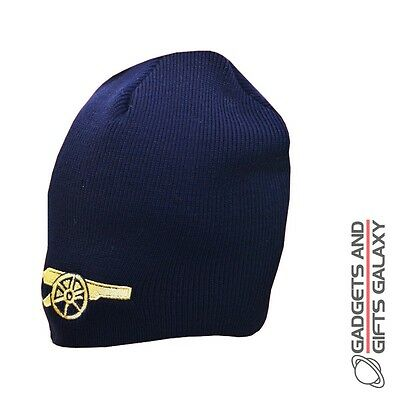 OFFICIAL ARSENAL FOOTBALL CLUB BEANIE NAVY KNITTED HAT WINTER Adult clothing acc