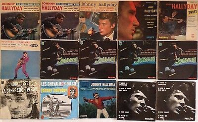 Lot Disques 45T Special Johnny Hallyday