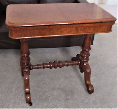 antique card table wallnut