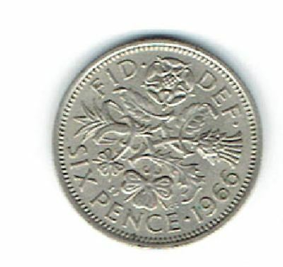 1966 UK - Great Britain *Wedding Sixpence - Something Old Something New .75 s/h