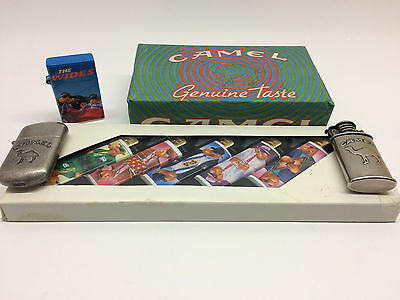Collection of New Vintage 1990's Camel Lighters and Matches