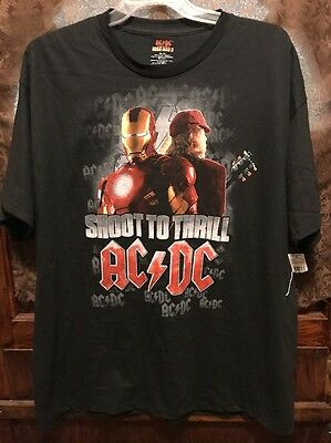IRON MAN AC/DC ~ XXL ~ Shoot to Thrill ~ Angus Young New W Tags T Shirt