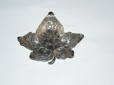 Old Mark Buccellati Sterling Silver Italy Marked Figural Repousse Figural Leaf