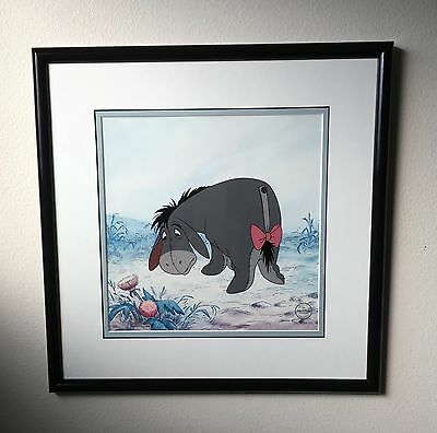 "Disney Animation Sericel Winnie the Pooh, ""Eeyore's Lament"" Limited Edition VTG"