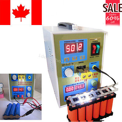 LED Dual Pulse Spot Welder Welding Battery Charger 800A 36V Micro-Computer CE
