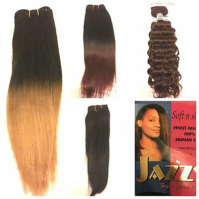 100% Human Hair - Yaki And Curly Weaves 8, 14, 16 Inches - Jazzy Human Hair