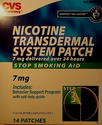 Cvs Nicotime Transdermal System Patch 14 Stop Smoking Patch 7mg Step 3 / 05/2017