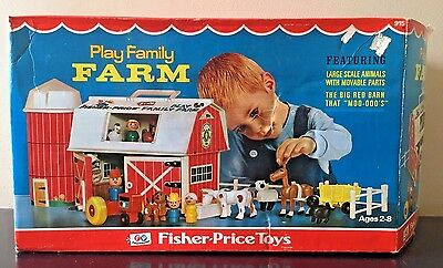Vintage 1968 Fisher Price Family Farm 915 New in Open Box Complete UNUSED
