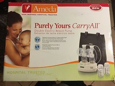 SEALED AMEDA Purely Yours Carry All Double Electric Breast Pump NEW WITHOUT BPA