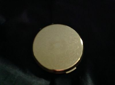 "Vintage Round Gold Tone Metal ""Stratton"" Compact"