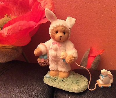 Cherished Teddies Trudy - Easter Bunny Pulling Toy Exclusive Figurin Neu und OVP