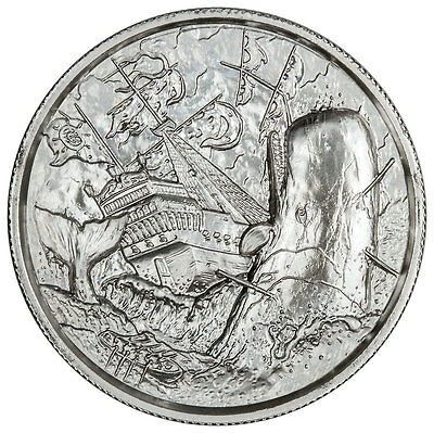 Privateer - White Whale - UHR 2 Ounce .999 Silver Round - In Hand!