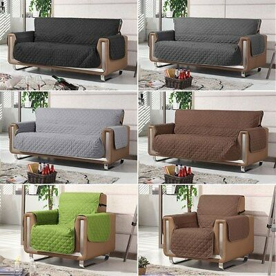 Water Repellent Quilted Couch Sofa Cover Removable Slipcover Dog Couch Protector