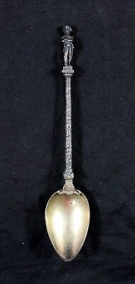 Antique Sterling Silver 3-D Napoleon Waterloo Souvenir Spoon Figural Sculpture