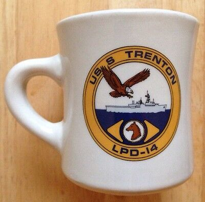 Uss Trenton Lpd-14 U. S. Navy Xo Commanding Officer Coffee Mug, Vintage