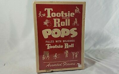 Vintage Tootsie Roll Pops Empty Box Advertising Excellent Condition