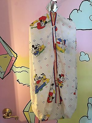 Vintage Dundee Mickey Mouse Diaper Stacker 1984 Disney Babies