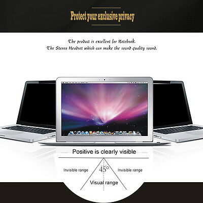 Privacy Protective Film For 13 inch Widescreen(16:9) Laptop Monitor/Notebook I0