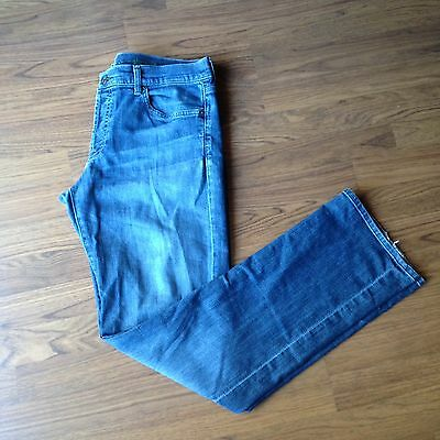 Mens 7 for all Mankind Jeans 34 Standard Cotton Blue Denim Button Fly L12