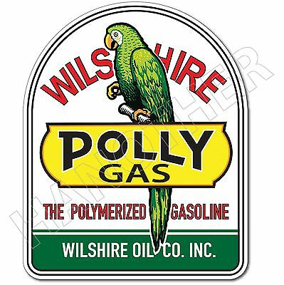 Wilshire Oil Polly Gasoline Lubster Project Decal Gas Oil Can Pump Sticker