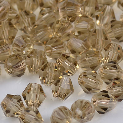 100pcs Gray exquisite Glass Crystal 4mm #5301 Bicone Beads loose beads #5