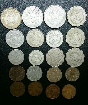 iraq lot of 20 coins 1931 to 1959