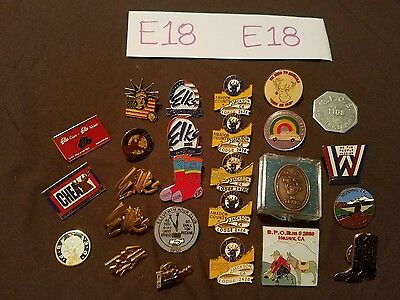 E18- Lrg Bpoe Benevolent And Protective Order Of Elks Items Lot Pins Etc