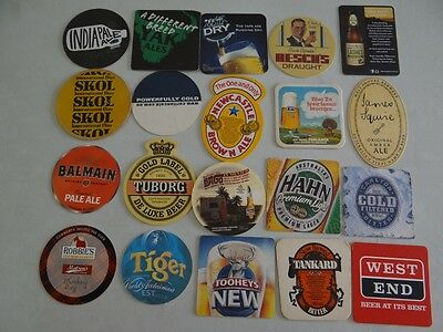 20 x MIXED COLLECTABLE BEER COASTERS/MATS HC5