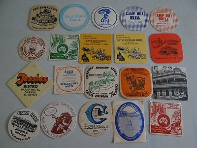 20 x MIXED COLLECTABLE BEER COASTERS/MATS HC9