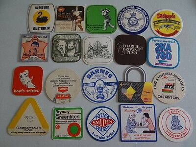 20 x MIXED COLLECTABLE BEER COASTERS/MATS HC12