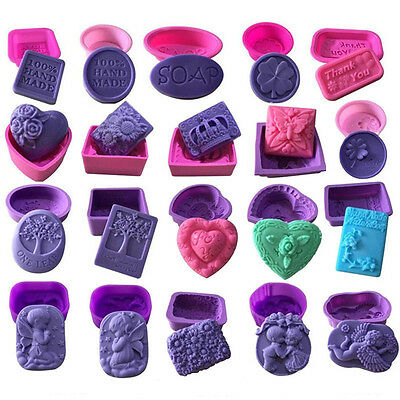3D Silicone Soap Mold Cake Decor Candy Chocolate Cookies Baking Mould 55 Styles