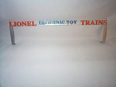 LIONEL TINPLATE IRVINGTON FACTORY SIGN for 6-32905 LIONEL ELECTRIC TOY TRAINS EX