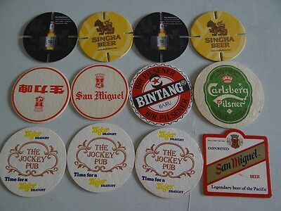 12 x ASIAN  BEER COASTERS/MATS HC23