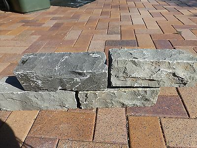 Stone  Block Garden Edging  Granite Bluestone  300 x 100 x 100mm   $9-50ea
