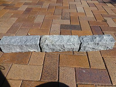 Stone  Block Garden Edging  Granite  Sesame Grey  300 x 100 x 100mm   $9-50ea